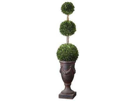 Uttermost Triple Topiary Preserved Boxwood