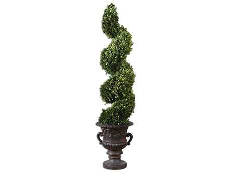 Uttermost Spiral Topiary Preserved Boxwood