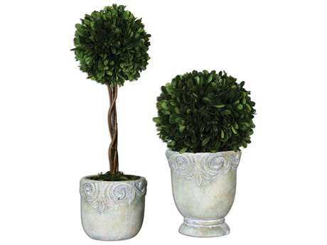 Uttermost Preserved Boxwood Ball Topiaries (2 Piece Set)