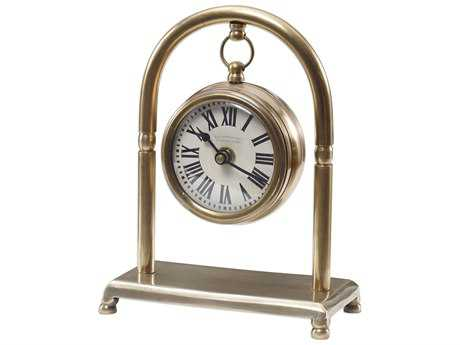 Uttermost Bahan Brass Table Clock