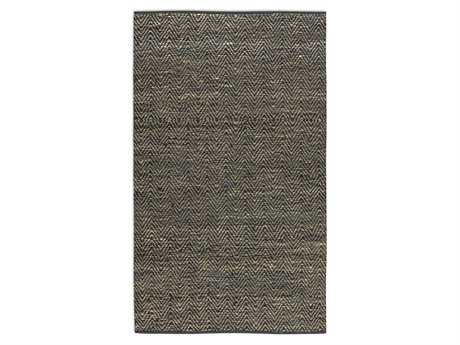 Uttermost Taryn Rectangular Black Leather Area Rug