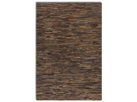 Uttermost Malone Rectangular Patchwork Brown Area Rug