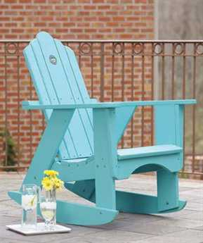 Uwharrie Chair Original Wood Rocker Adirondack Arm Chair