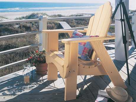 Uwharrie Chair Fanback Wood Adirondack Chair