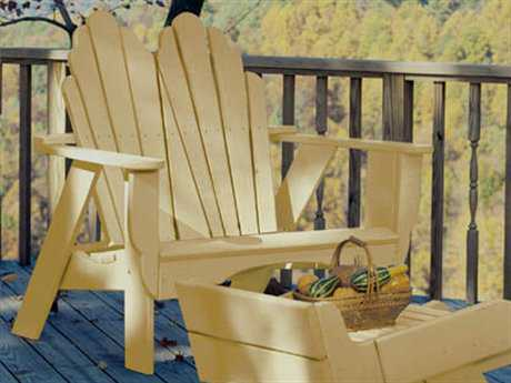 Uwharrie Chair Fanback Wood Fan Back Loveseat 52Wx36Dx45H