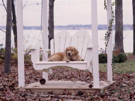 Uwharrie Chair Fanback Wood Arm Rocker Swing UW4052