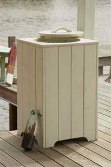 Uwharrie Chair Companion Series Wood Trash Can