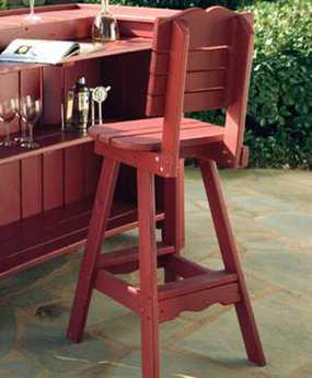 Uwharrie Chair Companion Series Wood Side Bar Stool 18Wx19.5Dx48H
