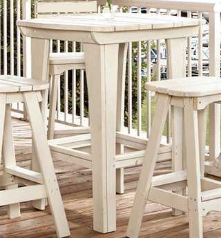 Uwharrie Chair Companion Series Wood Square Bar Table