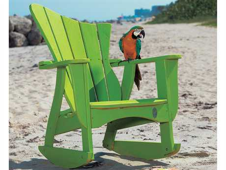 Uwharrie Chair Wave Wood Rocker Adirondack Chair