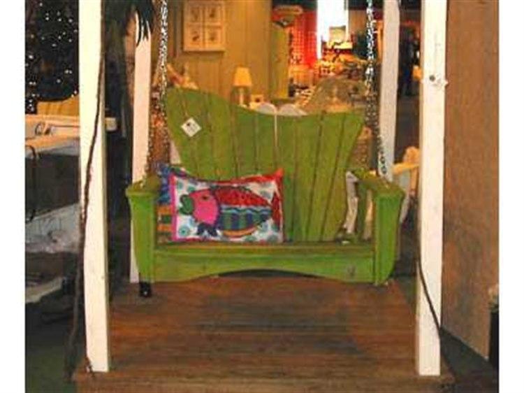 Uwharrie Chair Wave Wood Swing