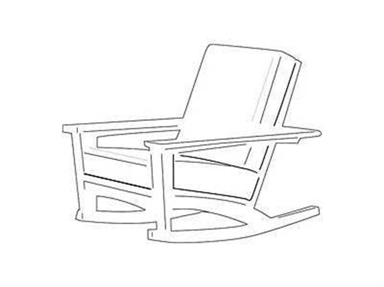 Uwharrie Chair Chat Wood Arm Rocker Lounge Chair PatioLiving