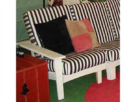 Uwharrie Chair Chat Wood Cushion Sectional Patio Lounge Chair