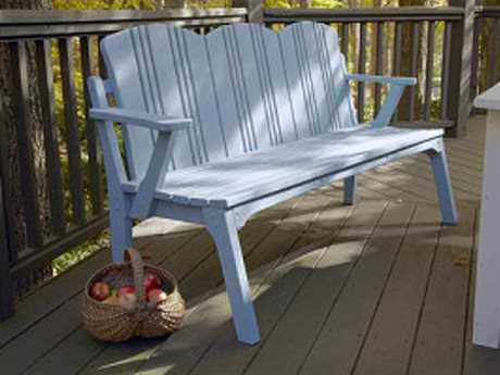 Uwharrie Chair Carolina Preserves Wood 4-Seat Bench w/ Back