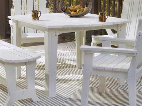 Uwharrie Chair Carolina Preserves Wood 48 x 40.5 Dining Table