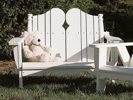 Uwharrie Chair Nantucket Wood Loveseat 40Wx25.5Dx32H - CHILD SIZED
