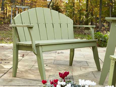 Uwharrie Chair Plaza Wood 2-Seat Bench with Back