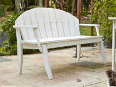 Uwharrie Chair Plaza Wood 3-Seat Bench with Back