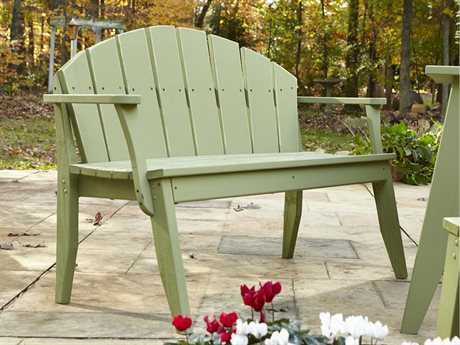 Uwharrie Chair Plaza Wood 4-Seat Bench with Back