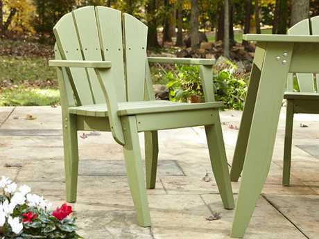 Uwharrie Chair Plaza Wood Adirondack Dining Arm Chair