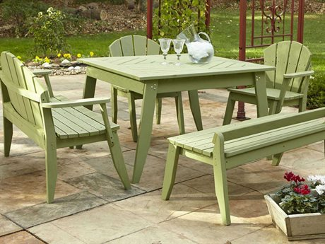 Uwharrie Chair Plaza Wood Dining Set
