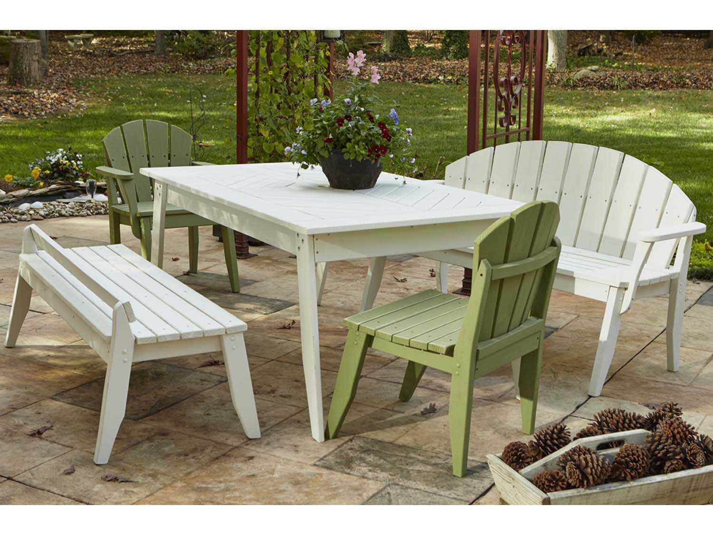 Uwharrie Chair Plaza Wood 3 Seat Bench P098