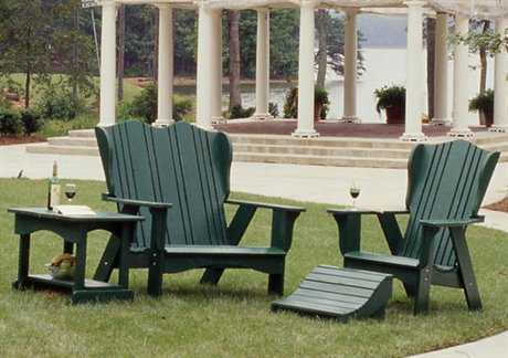 Uwharrie Chair Plantation Series Conversation Wood Lounge Set
