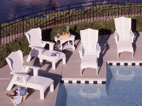 Uwharrie Chair Plantation Series Wood Pool Lounge Set