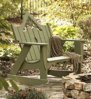 Uwharrie Chair Veranda Wood Arm Rocker Loveseat