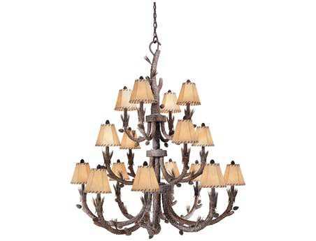 Vaxcel Aspen Pine Tree & Fabric 16-Light 46'' Wide Grand Chandelier
