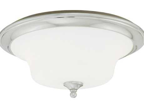 Vaxcel Sonora Satin Nickel & Frosted Opal Glass Two-Light 14 Flush Mount Light