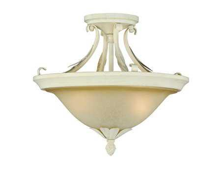 Vaxcel Austen Gilded Patina & Two-Light 13 Semi-Flush Mount Light