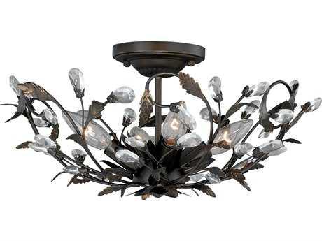 Vaxcel Trellis Architectural Bronze Four-Light 16'' Wide Semi-Flush Mount Ceiling Light