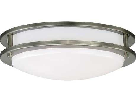 Vaxcel Horizon 12'' Wide LED Flush Mount Ceiling Light with White Acrylic Diffuser