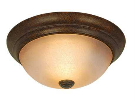 Vaxcel Monrovia Royal Bronze & Brushed Cognac Glass 11 Flush Mount Light