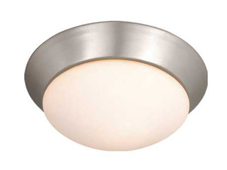 Vaxcel Tertial Brushed Nickel & Frosted Opal Glass 9 Flush Mount Light