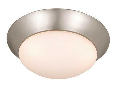 Vaxcel Tertial Brushed Nickel & Frosted Opal Glass Three-Light 17 Flush Mount Light