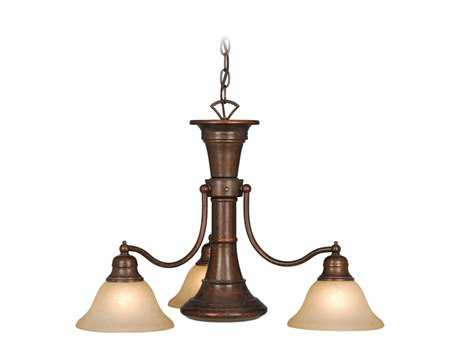 Vaxcel Standford Royal Bronze & Creme Cognac Glass Four-Light 26'' Wide Chandelier