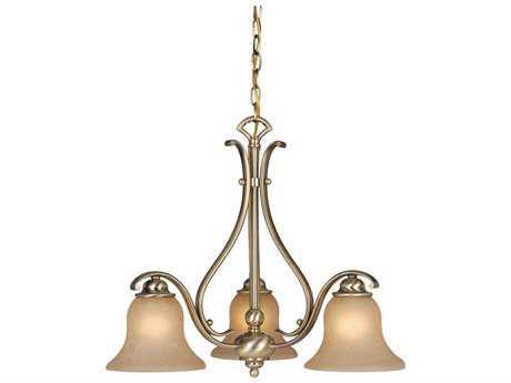 Vaxcel Monrovia Antique Brass Three-Light 23'' Wide Standard Chandelier