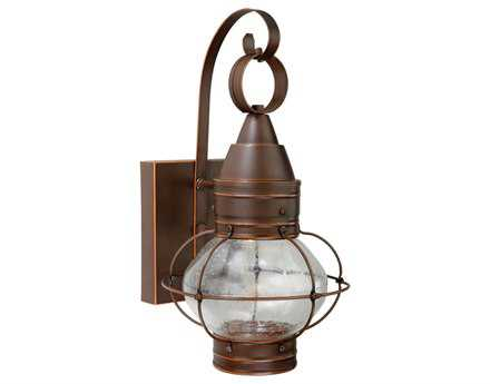 Vaxcel Chatham Burnished Bronze & Seeded Glass Three-Light 8 Outdoor Wall Light