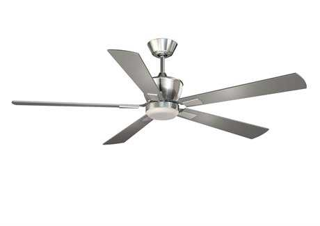 Vaxcel Geneva Satin Nickel & Frosted Opal Glass 52 Ceiling Fan