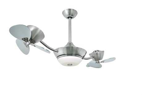 Vaxcel Eclipse Ii Satin Nickel & Frosted Opal Glass 42 2-Rotor Dc Ceiling Fan