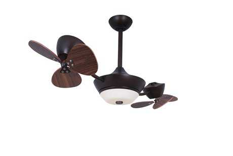 Vaxcel Eclipse Ii Oil Rubbed Bronze & Frosted Opal Glass 42 2-Rotor DC Ceiling Fan
