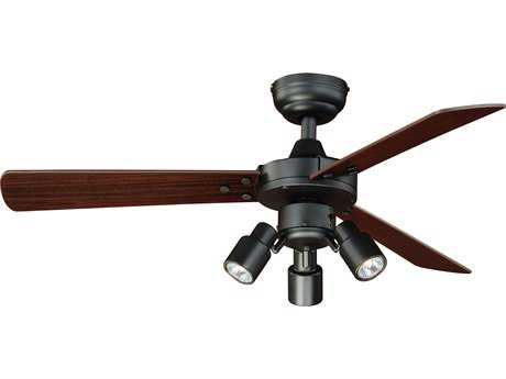 Vaxcel Cyrus Dark Bronze Three-Light 42'' Wide Indoor Ceiling Fan