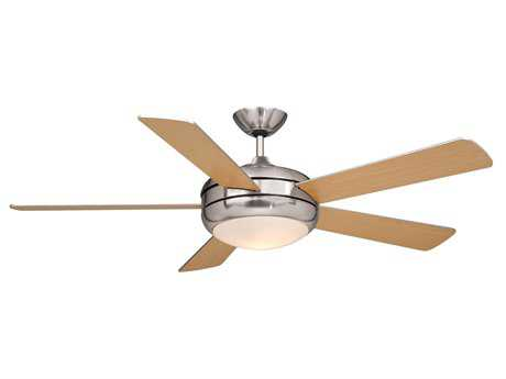 Vaxcel Rialta Satin Nickel & Frosted Opal Glass 52 Ceiling Fan