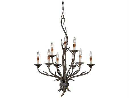 Vaxcel Monterey Autumn Patina Nine-Light 28'' Wide Chandelier