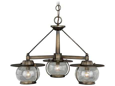 Vaxcel Jamestown Parisian Bronze Three-Light 24'' Wide Pendant Ceiling Light
