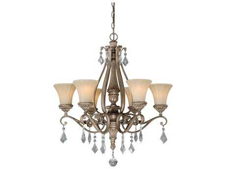 Vaxcel Avenant French Bronze Six-Light 27'' Wide Standard Chandelier