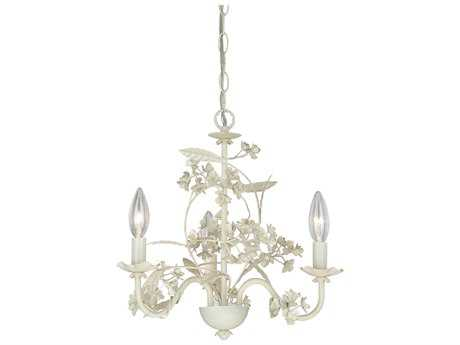 Vaxcel Leilani Antique White Three-Light 15.5'' Wide Mini Chandelier