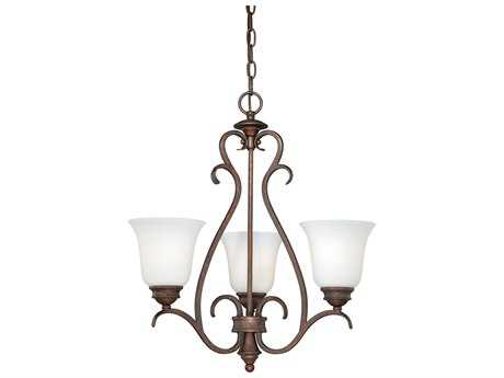 Vaxcel Hartford Weathered Patina Three-Light 20'' Wide Mini Chandelier